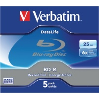 Verbatim BluRay BD-R 25GB 6x Jewel Case (Pack of 5) 43836