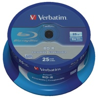 Verbatim BluRay BD-R 25GB 6x Spindle (Pack of 25) 43837