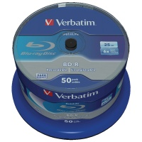 Verbatim BluRay BD-R 25GB 6x Spindle (Pack of 50) 43838