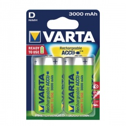 VARTA D Rechargeable Accu Battery NiMH 3000 mAh (Pack of 2)