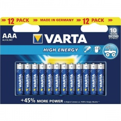 Varta AAA High Energy Alkaline Batteries (Pack of 12)