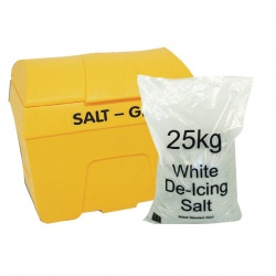 Yellow Winter Grit Bin with 8 x 25kg Salt Bags 360201