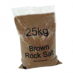 Winter Dry Brown Rock Salt 25kg (Pack of 40) 383578