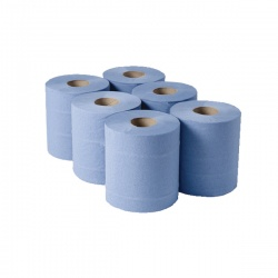 Whitebox 1 Ply Blue Centrefeed Rolls 288mx180mm (Pack of 6) CBL290S