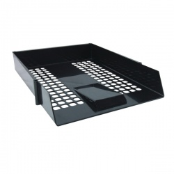 Black Pastic Letter Tray (Pack of 12)