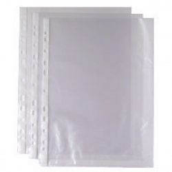 Whitebox Punched Pocket A4 Clear 35 micron 270486 WX24001 (Pack of 100)