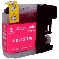 Brother LC123 Magenta Ink Cartridge - Compatible